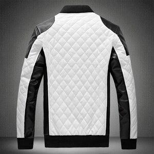 Image 2 - 2020 Mens מעילי עור מזדמן באיכות גבוהה קלאסי אופנוע אופני מעיל גברים בתוספת עבה מעילי האביב/סתיו chaqueta hombre