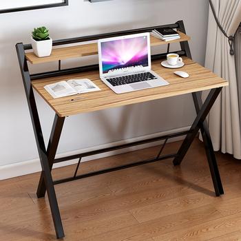 Prosta główna sypialnia mały stół do komputera biurko komputerowe proste nowoczesne biurko biurko na zewnątrz stoisko składany stół meble tanie i dobre opinie Montaż Krajem ameryki A62715 Drewniane Z litego drewna