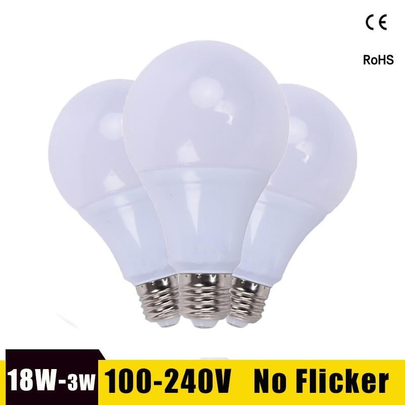 E27 LED Light Bulb 21W 18W 15W 12W 9W 6W 220V 110V Lampada Ampoule LED Lamp Energy Saving Bombillas LED Bulbs