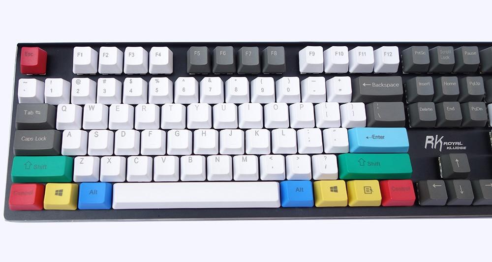 NPKC Keycaps for Mechanical Keyboard Red-Black Mix Thick PBT OEM Profile with ANSI or ISO Layout Option 61Keys 87Keys 104Keys 104-Key