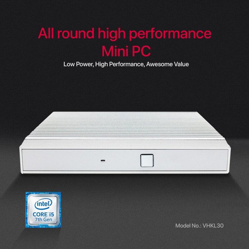 I5 7200U Intel Core Mini PC Linux Win 10 DDR4 Gigabit Ethernet Minipc 300M WiFi 6xUSB HDMI DP 4K HTPC NUC