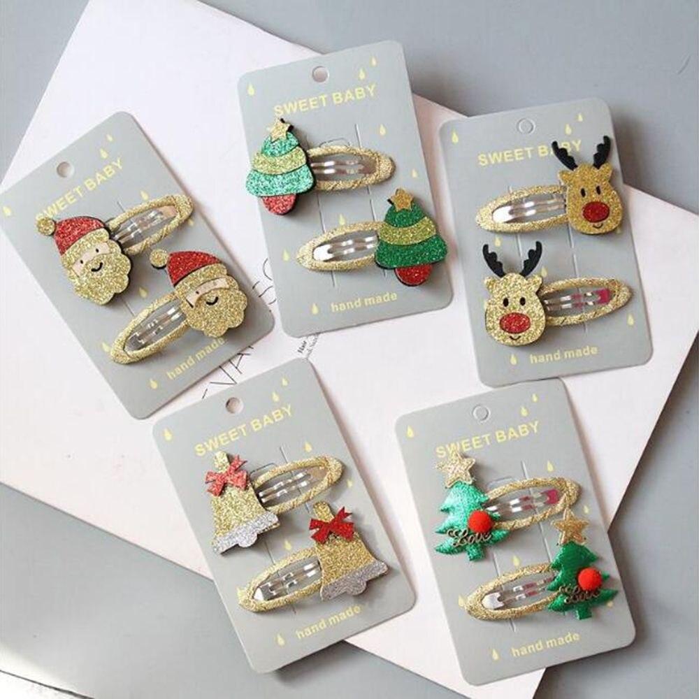 Women Girls Cute Christmas Hairpins Hair Clip Bands Cartoon   Headwear   Kids Barrettes Toddlers Charm Jewelry Gift Hair Accessories