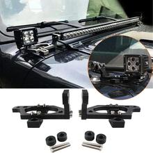 for Jeep Wrangler JL JLU 2018 2019 2020 2021 2022 2/4 Doors 42inch LED Light Bar Hood Mounting Brackets Car External Accessories