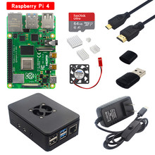 Raspberry Pi 4 Model B Kit 2G/4G Ram Board + Abs Case + Heatsink + 32/64 sd-kaart + Micro Hdmi Kabel + Power Adapter Voor Pi 4 4B(China)