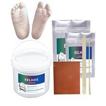 Kit para hacer moldes de mano y pie de bebé hechos a mano, Mini huellas en mano, regalos en polvo, molde para decoración del hogar # YL10