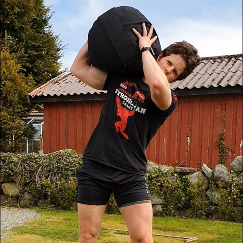 Cylindre Strongman, sac de sable robuste pour entraînement de fitness, de boxe, d'haltérophilie, de levage de pierres