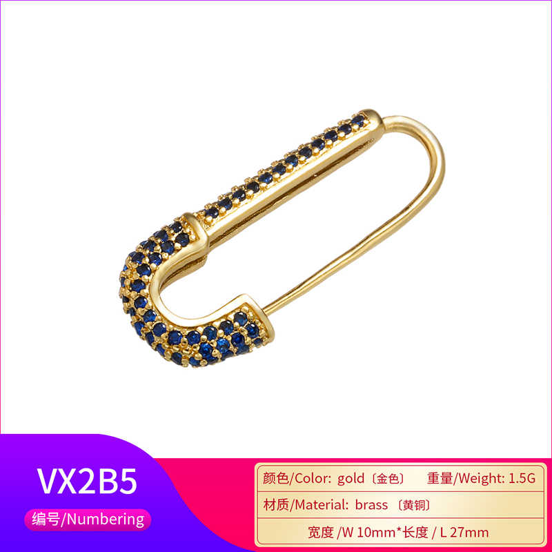 ZHUKOU באיכות גבוהה 10x27mm אופנה סוכריות קריסטל סיכת עבור חצאית בגדי תיק סיכת סיכות אביזרי דגם: VX2