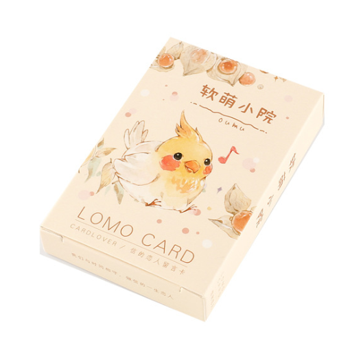 52mm*80mm happy animal paper greeting card lomo card(1pack=28pieces)