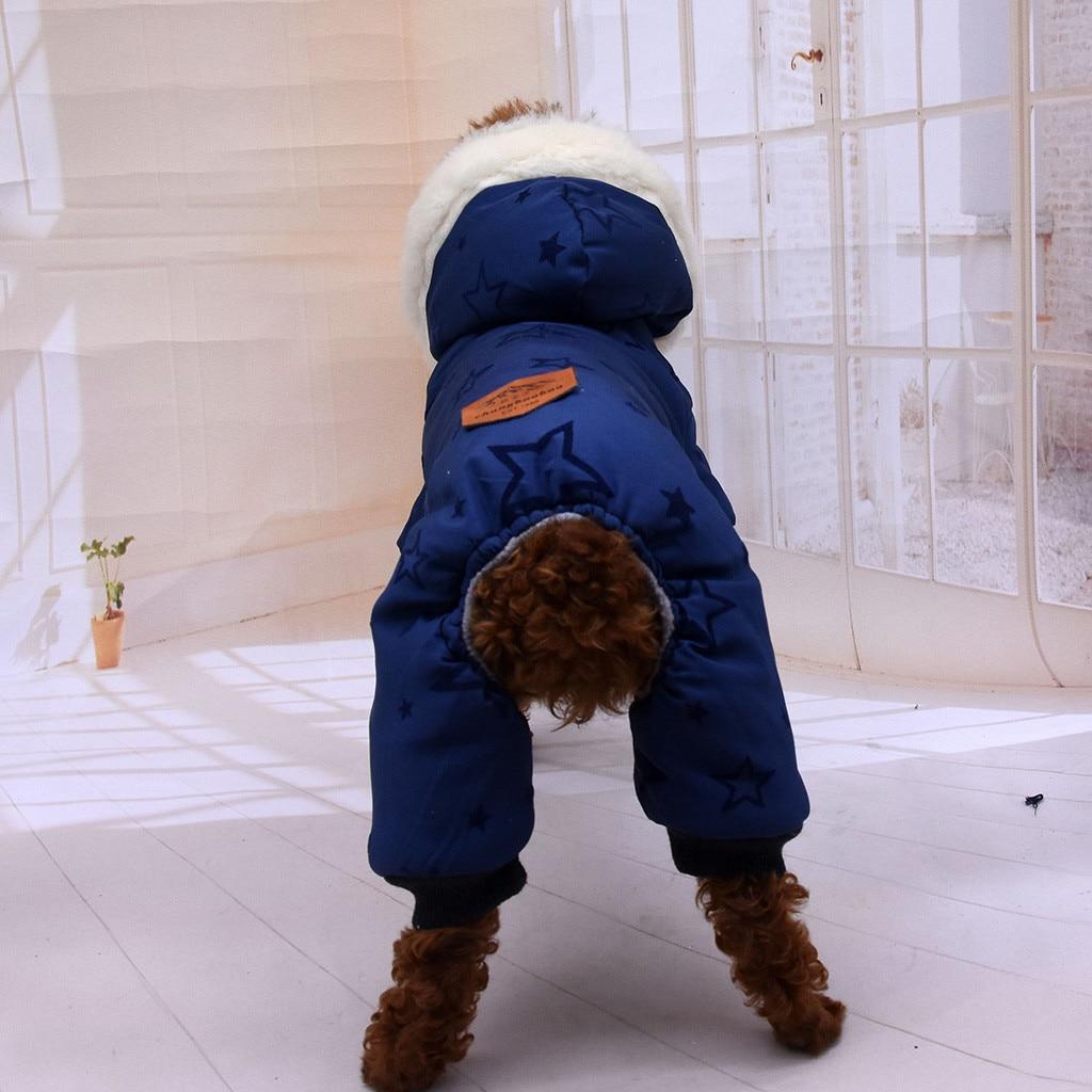 Dog Chien Chaud Capuche Manteau Jumpsuit Pet V/êtements Veste Pull Coton Pull pour Chien Costume DULEE AD