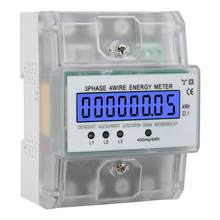 380V 80A Energie Meter Elektronische Watt Power Energy LCD Digital Display 3 Phase 4 Draht Wattmeter Mit Transparente Abdeckung