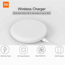 Original Xiaomi 20W Drahtlose Ladegerät Schnelle Lade Qi für Samsung Xiaomi Mix 2S Für iPhone 11 SE 2020 für Huawei P40