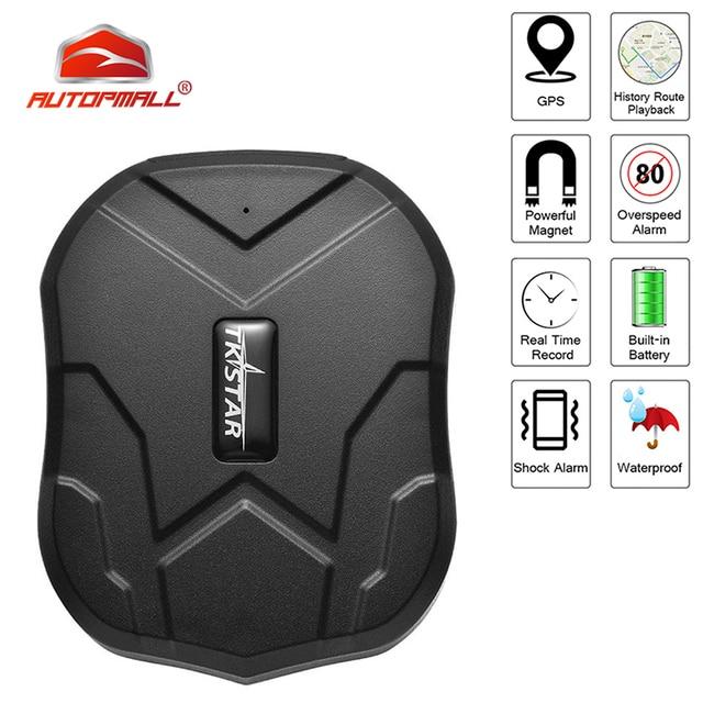 TK905 GPS Tracker Car TKSTAR 2G TK905 Realtime Tracking Voice Monitor GPS Locator 90 Days Long Standby Waterproof Free Web APP 1