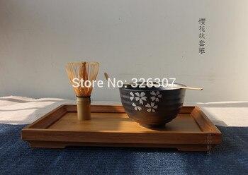 Japan handmade batidor matcha kit maccha whisk bowl tea set scoop Japanese accessories sakura green powder tea tools teaware