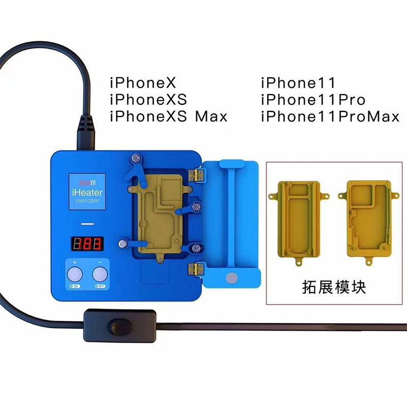 JC iHeater Intelligent Desoldering Station Digital Thermostat  Heating Plate for Phone 11 Pro MAX X XS MAX Motherboard Fixture
