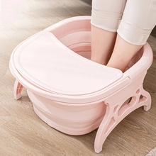 Basin Bucket Bathtub Massage Sauna Folding Spa Soaking Collapsible Plain with Lid Foaming