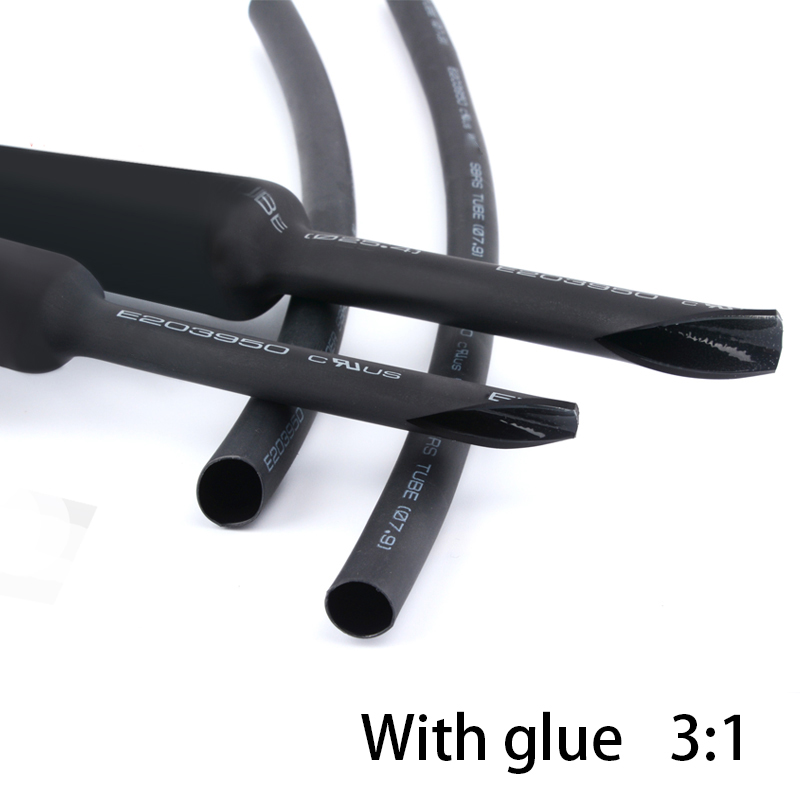 Heat Shrink Tube 3:1 Thickened With Glue Environmentally Friendly Double Wall Tube 1 Meter
