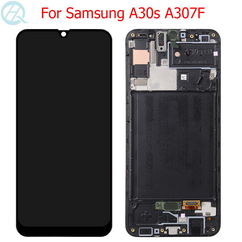 """Original AMOLED For Samsung Galaxy A30s LCD Display With Frame 6.4"""" A30s SM-A307F A307 A307F/DS Display Touch Screen Glass"""