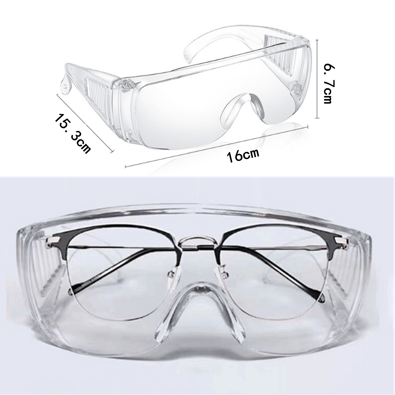 2pcs Safety Goggles Eye Protective Safety Riding Eyewear Vented Glasses Work Lab Sand Prevention Goggles Security Supplies New