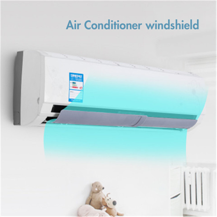 Scalable Air Conditioner Wind Shield Adjustable Easly Install Anti Blowing Board Cool Air Deflector Universal Baffle Windshield