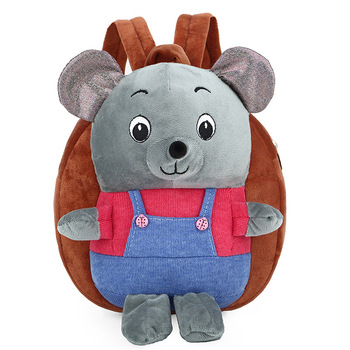 Plush Children School Bag Cartoon Cute Grizzly Kindergarten Baby Schoolbag Girls Boys Kids Offload Breathable For Small Backpack