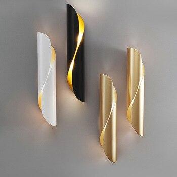 Nordic Simple Living Room Bedroom Bedside Lamp Creative Personality Villa Corridor Hotel Restaurant Iron Strip Shape Wall Light фото