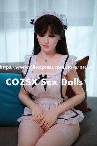 Image 3 - Секс куклы 168 см настоящая силиконовая японская взрослая аниме полная оральная любовь кукла реалистичные игрушки для мужчин большая грудь задница сексуальная Вагина анус