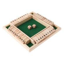 Ahşap Deluxe 4 taraflı 10 numara kapalı kutu zar kurulu oyunu çocuklar için yetişkinler