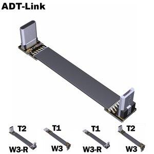Кабель USB Type-C с разъемом «папа» к Micro USB 2,0, кабель для синхронизации и зарядки под углом вверх/вниз с разъемом типа c, плоский адаптер FPC FPV