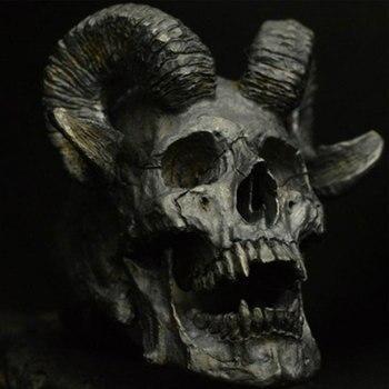 Bague tête de mort Chèvre