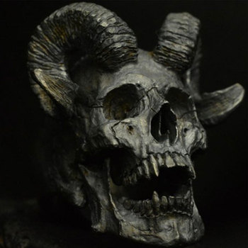 Vintage gótico Punk Acero inoxidable anillo de acero demonio Satanás cabra anillo de calavera para hombre del anillo con grabado de motocicleta accesorios de la joyería