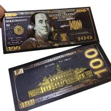 Декор для банкнот из черной золотой фольги 100 долларов