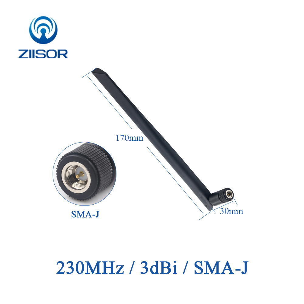 2pcs 230MHz Antenna Omni 230M Rotatable Rubber Antenna SMA Male DTU Wireless Module Antena Aerial TX230-JKD-20