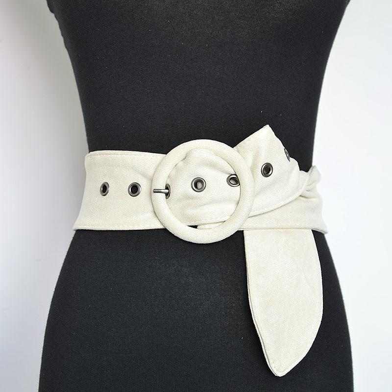 Belts For Women Designer Brand Luxury Fashion Rice White Velvet Popular Girl Flannelette Buckle New All Cotton Belt