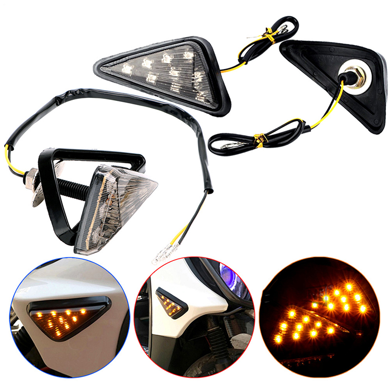 Motorcycle modified general triangle corner light turn signal light Motorcycle Turn Signals LED Light Flashing Indicator