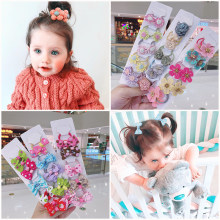 10/20Pcs/Set 2020 Kakakids New Girls Hair Accessories Cloth flower handmade bow baby's leather tendon hair ornament hair band