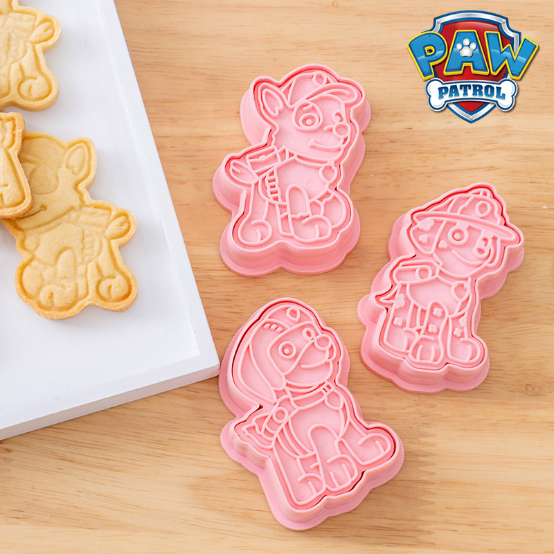 6Pcs Set Paw Patrol Cartoon DIY Christmas Cookie Cutters Tools 3d Cookie Mold Patrulla Canina Cute Press Type Baking Mold 2A25