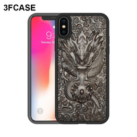 Unique 3D Carved Xs Max Case For iPhone Xr Case Luxury Ebony Wood Funda TPU Frame Cover Coque For iPhone 6 6S 7 8 Plus X XS Case