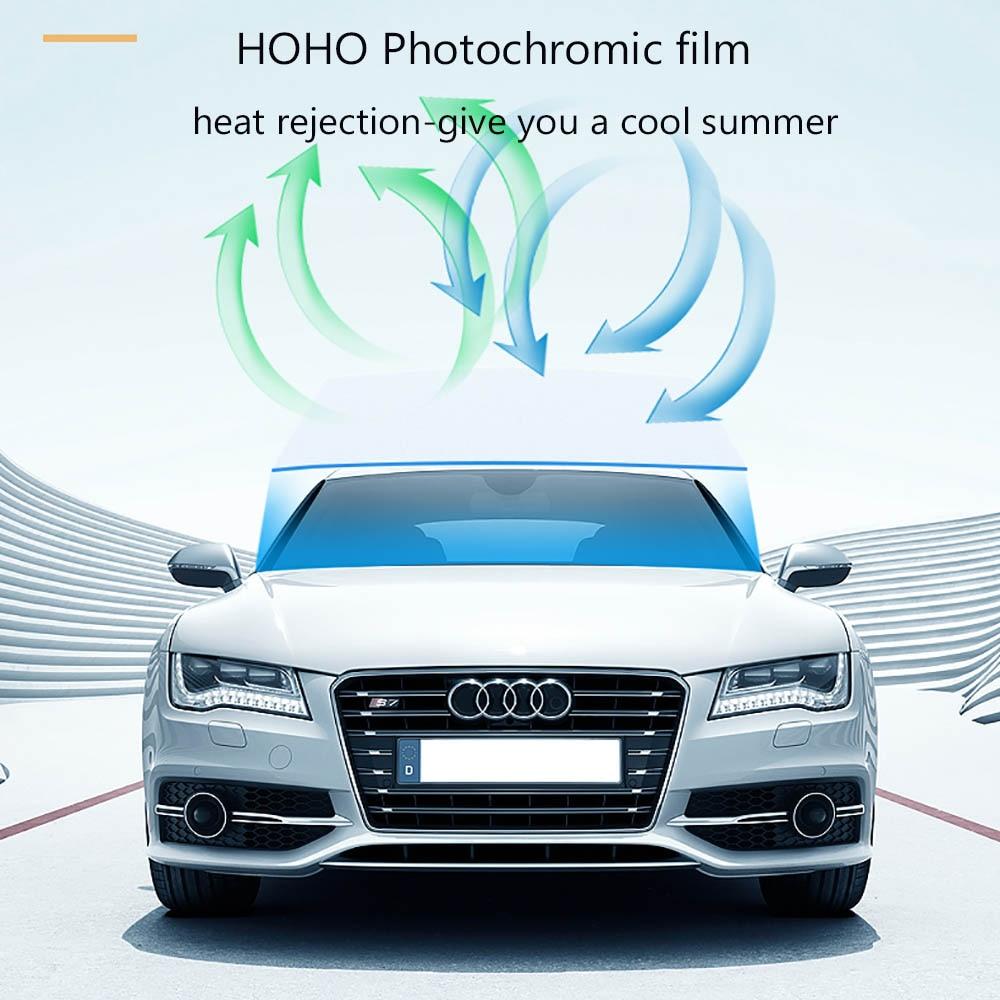 HOHOFILM Nano Ceramic Window Tint VLT 75/%-45/% Color Change Photochromic Window Film Sunlight Control Solar Tint for Home and Car Sun Blocking 21cmx30cm
