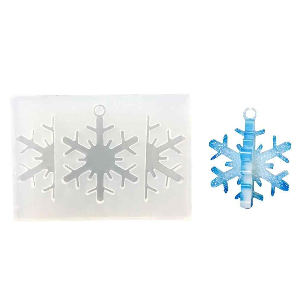 Formy silikonowe boże narodzenie 3D płatek śniegu brelok do kluczy rzemiosło formy robienia chleba czekoladowe narzędzie do dekoracji ciast narzędzia silikonowe formy