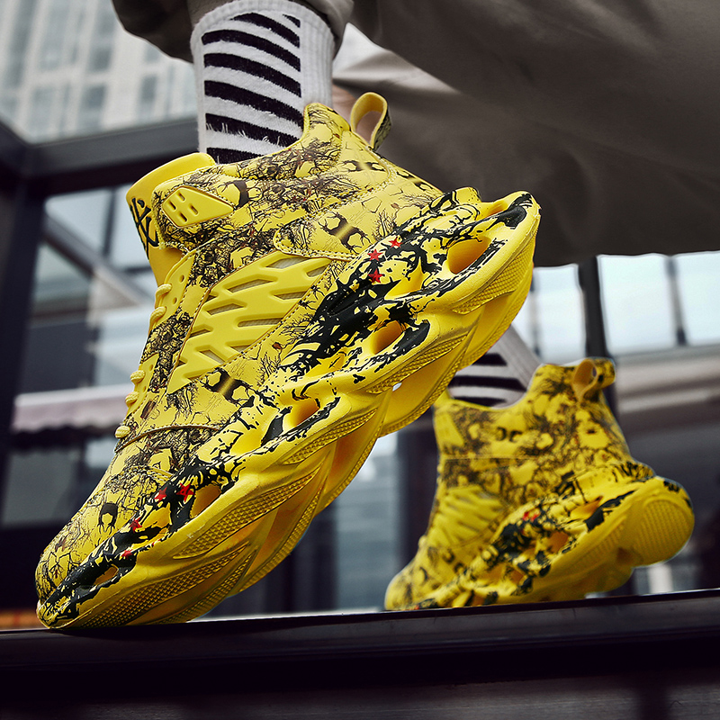 Fashion Men s Hip Hop Street Dance Shoes Graffiti High Top Chunky Sneakers Autumn Summer Casual Fashion Men's Hip Hop Street Dance Shoes Graffiti High Top Chunky Sneakers Autumn Summer Casual Mesh Shoes Boys Zapatos Hombre