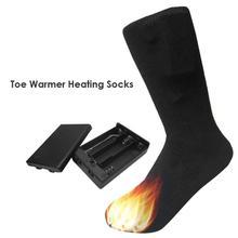 Зимние Утепленные носки с электрическим подогревом, носки с перезаряжаемой батареей для женщин и мужчин, уличные, для катания на лыжах, велоспорта, спорта