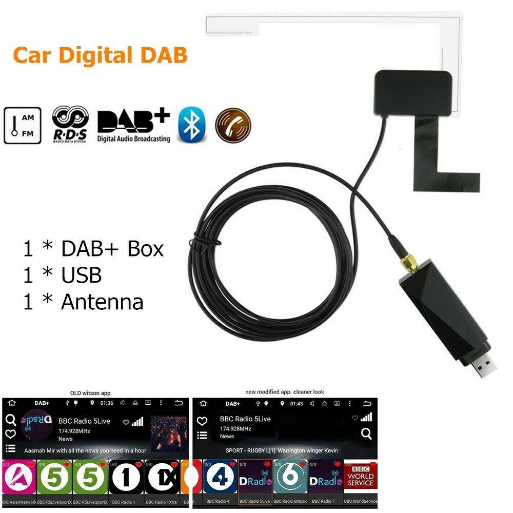 Dab радиоприемник в автомобильной антенне цифровой DAB + адаптер Aux тюнер коробка аудио усилитель USB петля антенна Android декодирование радио