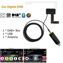 Dab radyo alıcısı anten dijital DAB + adaptörü Aux Tuner kutusu ses USB güçlendirilmiş döngü anten Android çözme radyolar