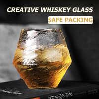 Vaso de whisky creativo para cóctel, Brandy, vino, vasos de cerveza, resistente al calor, taza de agua para té y café, vasos de cristal de diamante