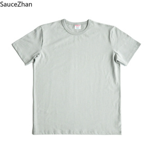 Image 4 - SauceZhan Three needle Reinforcement Mens Summer Cotton T shirt O Neck Solid T shirts for Man Thick Soft  Not Deformed