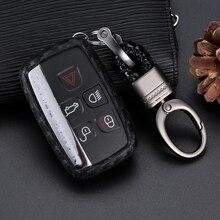 1 Pcs Car Key Case Carbon Silicone Cover For Land Rover Range Rover Sport Evoque Freelander 2 Jaguar XE XJ XJL XF C-X16 V12 car key cover key case bag for land rover range rover sport freelander 2 discovery 4 evoque for jaguar xe xj xjl xf key cover