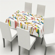 Nordic Home Decoration Table Cover Chair Modern Simplicity Kitchen Tablecloth Family Flower Birds Dining Cloth