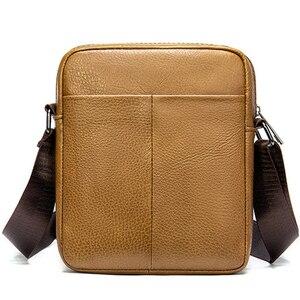 Image 2 - VICUNA POLO bolso de hombro de piel auténtica para hombre, Estilo Vintage bandolera, informal, promocional