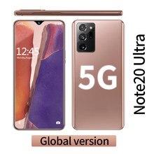 Galay note20 ultra 5g smartphone 12gb ram + 512gb rom tela de 6.6 polegadas 16 + 32mp com apoio face/reconhecimento de impressão digital desbloqueado