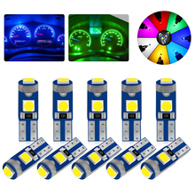 10 шт. T5 светодиодные лампы W3W W1.2W Led Canbus автомобильные интерьерные огни приборная панель индикатор потепления клин авто инструмент лампа